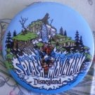 Disneyland Splash Mountain Pin Mickey Goofy Vintage Button