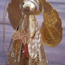 Hallmark Angel Heavenly Glow Brass Goldtone Metal 1988 Ornament QLX7114