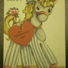 1947 Rust Craft Valentines Card Vintage Pony For Daddy