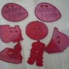 Lot Vintage HRM Cookie Cutters Easter Cowboy Train Boat