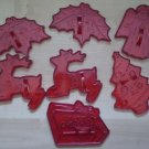 Lot Vintage HRM Cookie Cutters Christmas Tree Angel Reindeer