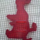 Vintage Red Duck Cookie Cutter Bird Plastic