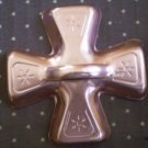 Iron Cross Metal Cookie Cutter Copper Color Vintage Aluminum