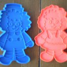 Raggedy Ann & Andy Cookie Cutters Plastic Vintage Bobbs Merrill