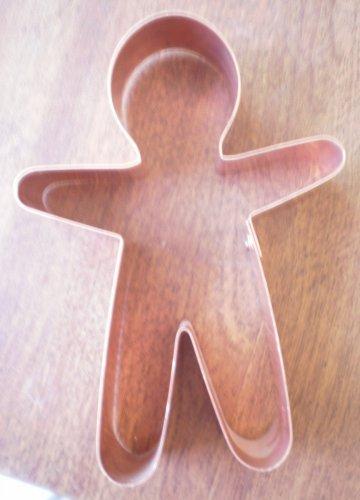 Copper Cookie Cutter Gingerbread Man Spun Sugar Metal 5in
