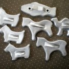 Lot Metal Cookie Cutters Animals Dog Fish Horse Camel