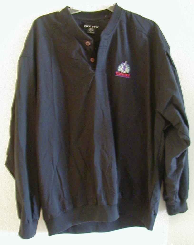 Nike Golf Senior Classic Toshiba Windbreaker Jacket XL Blue