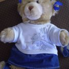 Build A Bear Teddy w/ Clothes Limited Too Shirt Denim Skirt
