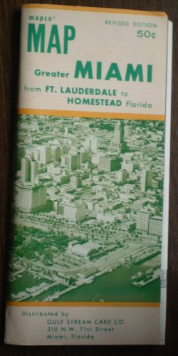 Mapco Map Greater Miami Gulf Stream Card Co Revised Ed