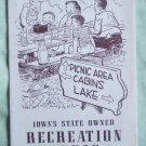 Iowa State 1953 Map Recreation Areas Brochure Parks Pamphlet