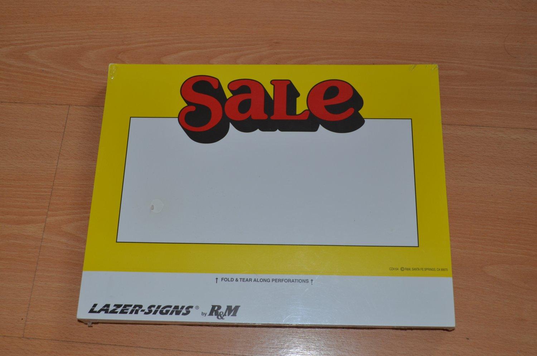 Lazer-Signs SALE Poster Sign R&M 7X11 100pc CZA104 NOS
