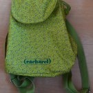 Cacharel Backpack Bag Light Green Small Child 1990's Vintage Flowers