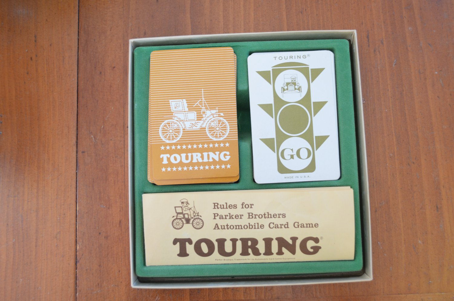 1965 TOURING AUTOMOBILE CARD GAME PARKER BROTHERS COMPLETE Vintage