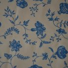Gaston Y Daniela Brunschwig Sample Remnant Fabric Flores Indianas Light Blue 2pc
