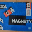 Vintage Hama Magnetype Board Yellow Magnetic Alphabet 3D Letters Magnet Germany