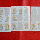Hallmark BETSEY CLARK Stickers 17 pcs on 3 sheets Vintage