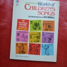 The Wonderful World of Children's Songs Paperback John Brimhall Songbook Sheet Music