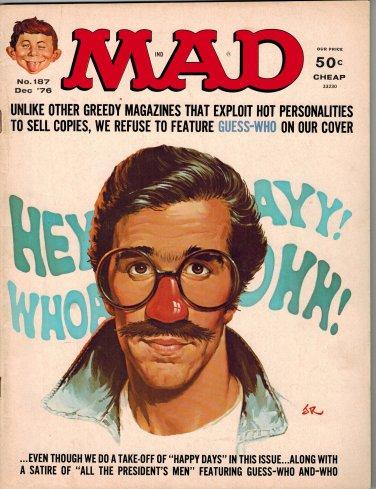 MAD MAGAZINE 187 DEC 1976 HAPPY DAYS ALL THE PRESIDENT'S MEN