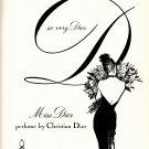 Christian Dior Miss Dior perfume Rene Gruau woman art vintage print ad 1960s