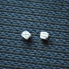 "Vintage Dice Bead Miniature Corner Drilled 3/16"" Bone or Plastic"