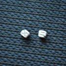 """Vintage Dice Bead Miniature Corner Drilled 3/16"""" Bone or Plastic"""