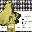 Christian Dior Vintage Ad Spray Traveler Eau de Cologne Rene Gruau Houndstooth