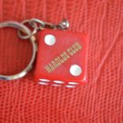 NEW Vintage Reno Nevada Harold's Club Casino Dice Keychain Die Key Ring
