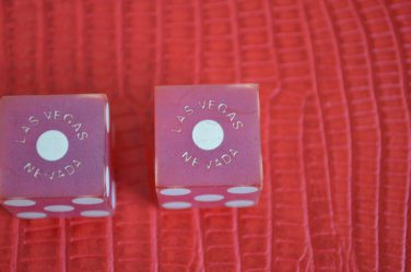 Continental Casino Vintage Dice Red Las Vegas NV Pair Numbered C849 C846