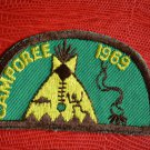 1973 BSA Patch Boy Scouts of America Camporee Green Half Circle