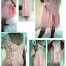 Pink Floral Dress with Wrap - Custom Order