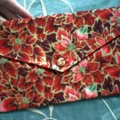 Poinsettia Envelope Clutch