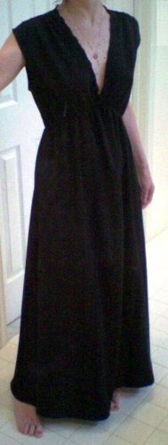 Lace Trimmed Full Length Nightgown - Choose Your Color and Size