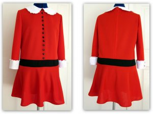 Girls Custom Made Veruca Salt Dress