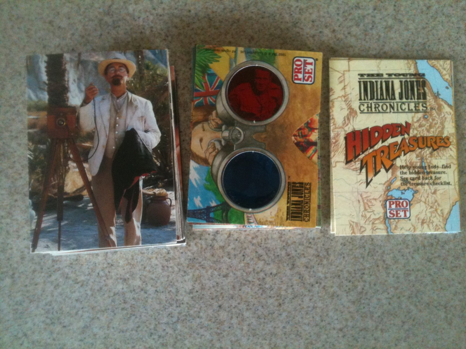 71 Pro Set Young Indiana Jones Chronicles Cards Lot (1992) 9/10 3D + Glasses