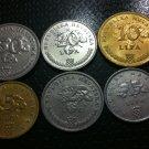 CROATIA FULL SET COINS LIPE- 50 LIPA, 20 LIPA, 10 LIPA, 5 LIPA, 2 LIPE, 1 LIPA !