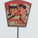 Laurel and Hardy Stars, Stan and Ollie, Yugoslavia editor vintage pin, badge, lapel !