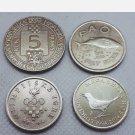 Commemorative coins in Croatia, 5 Kuna + 2 Kune + 1 Kuna - 4 Pcs !