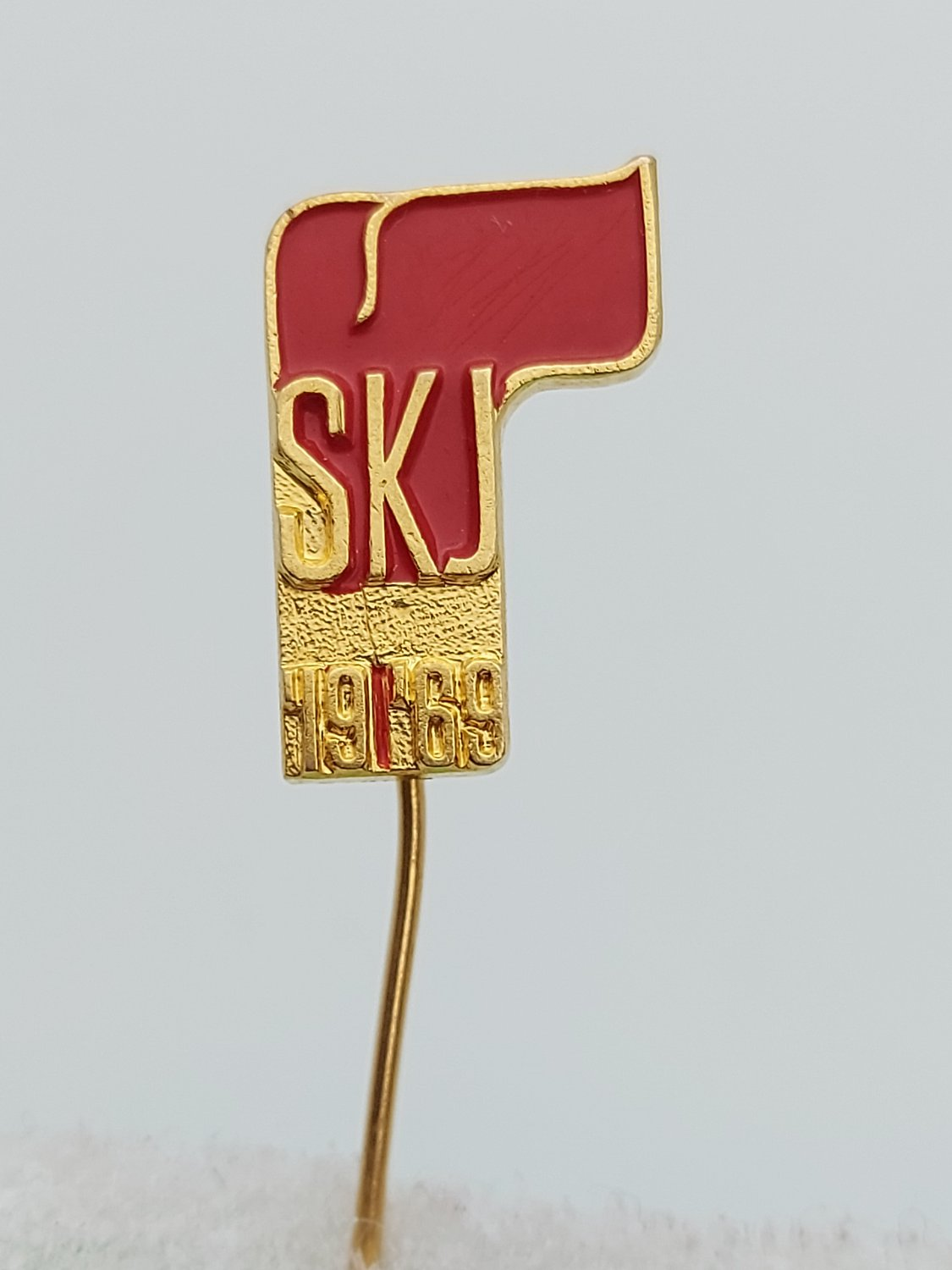 SKJ - League of Communists of Yugoslavia 1969. sickle and hammer pin badge