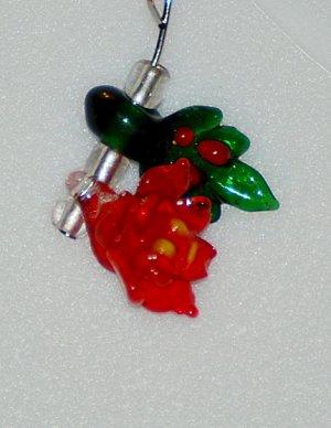 Poinsettia Earrings
