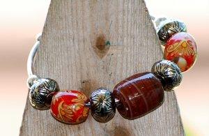 Wood Bead Bangle