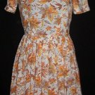 Pretty Floral 40s-50s Day Dress