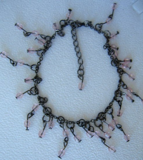 "Victorian Beaded 8-9.5"" Ankle Bracelet"