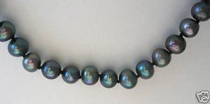 "Freshwater Cultured Black Pearl 17"" Necklace"