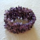 Amethyst Nugget Stretch Bracelet