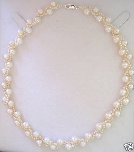 7-7.5mm Fine White Cultured Pearl Necklace