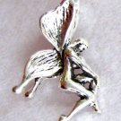 Sterling Silver 925 Fairy Pendant Charm 3-D