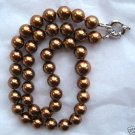 "19"" Brown Pearl Necklace 10-12mm Mother of Pearl"