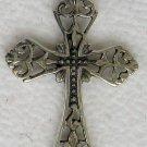 Sterling Silver Cross Filigree Pendant 1.25 Inch Long