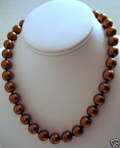 """18"""" South Sea Shell Brown Pearl Necklace 12mm"""