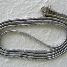 "35.5-36"" Stainless Steel Snake Chain Necklace"